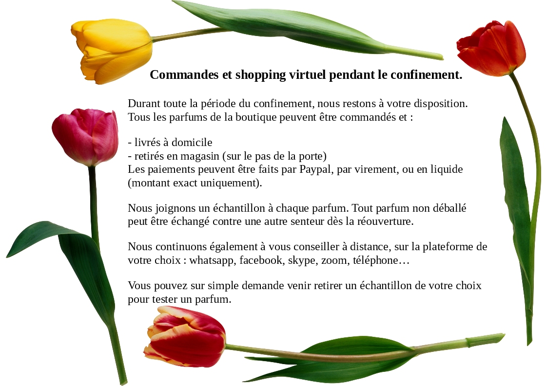 Commandes et shopping virtuel pendant le confinement.